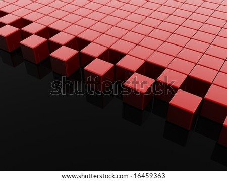 3d red background