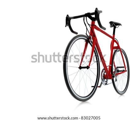 3d red bike - stock photo
