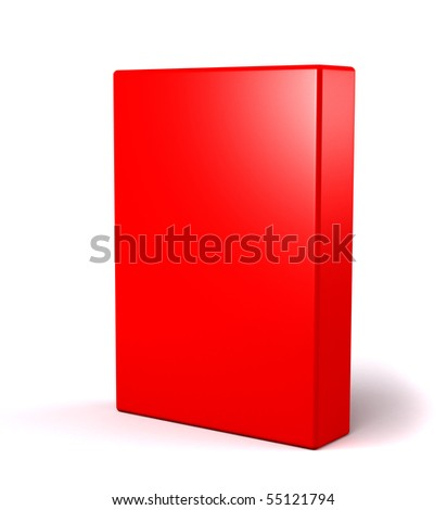 3D red box on white - stock photo