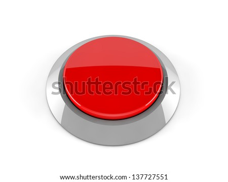 3d red button - stock photo