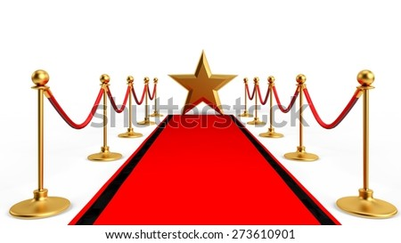 3D. Red Carpet, Greeting, First Class.