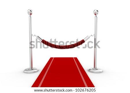 3d red carpet illustration - stock photo