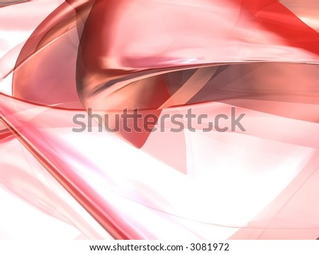 3D Red Render - stock photo
