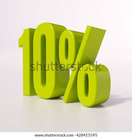 3d render: 10% - stock photo