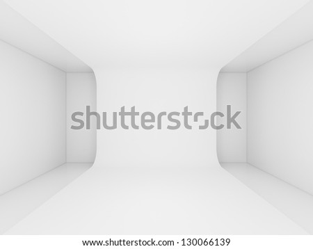3d render abstract architecture interior - stock photo