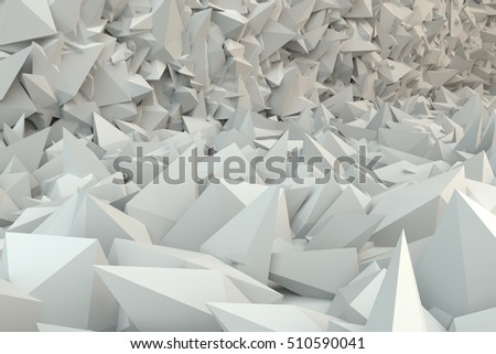 3d render abstract volumetric background