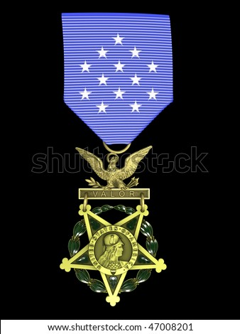 3d render Army medal of honor - stock photo