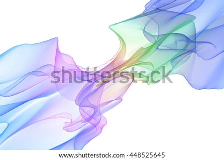 3d render beautiful abstract color smoke on white background