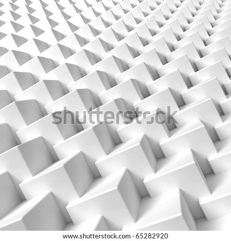 3D render bitmap  - cube structure - stock photo