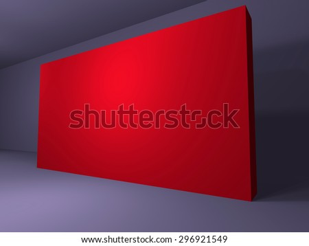 3d-render-blank-trade-show-booth-for-designers-background-empty-room-with-space-for-your-text - red