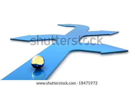 3D Render. Business concept: Choices. - stock photo