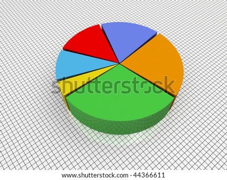 3d Render Business Graph Pie Chart - stock photo