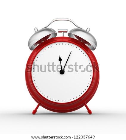 3d  render classic alarm clock - stock photo