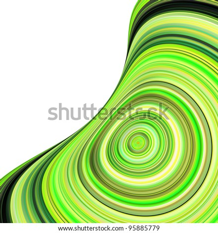 3d render concentric pipes in multiple green colors - stock photo