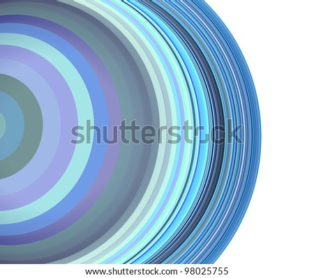 3d render concentric pipes tube abstract blue purple backdrop - stock photo