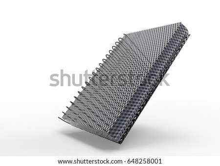 3D render cover spiral notebook