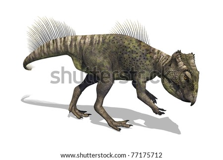 3d render depicting an archaeoceratops dinosaur.