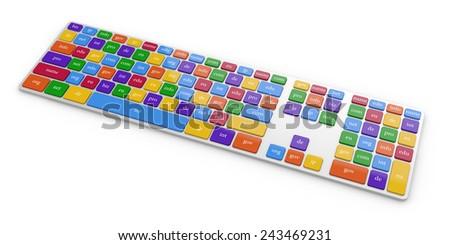 3d render global internet communication - stock photo