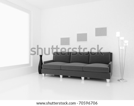 3d render home Interior. High resolution image. Apartments in a modern style.