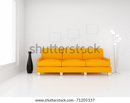 3d render home Interior. High resolution image. Apartments in a modern style. - stock photo