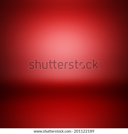 3d render illustration blank template of empty red metallic surface. - stock photo