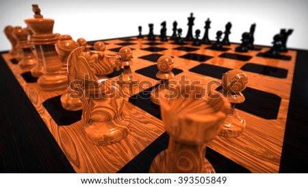 3D  render image representing a chess game / Chess game