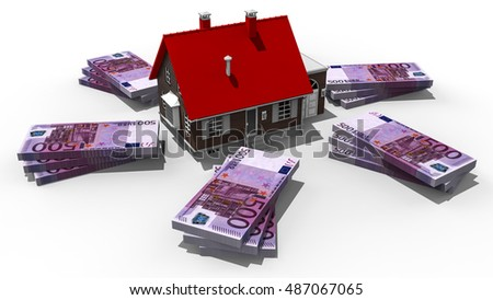 3D render image representing property value / Property value