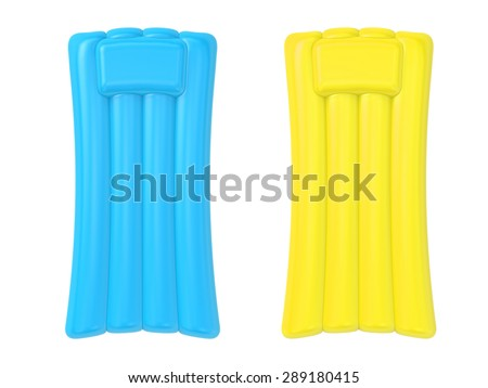 3d render inflatable raft isolated on white - stock photo