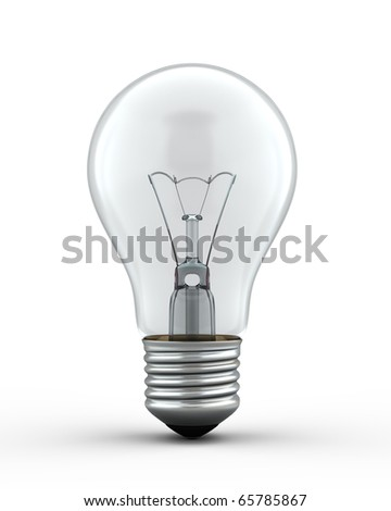 3d render Light Bulb (isolated on white and clipping path) - stock photo