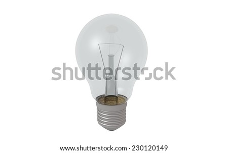 3d render light bulb on white background - stock photo