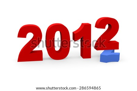 3d render New Year 2012 and past year 2011 on a white background.