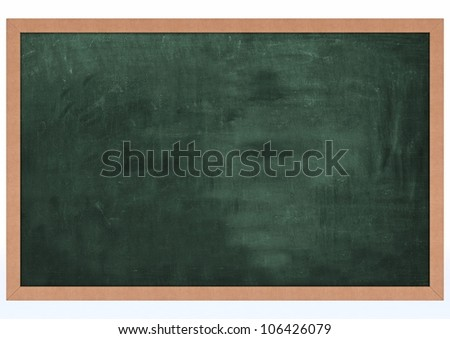 3D Render of a Blank Chalk Board - stock photo