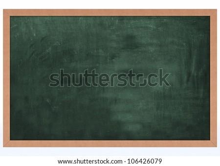 3D Render of a Blank Chalk Board - stock photo