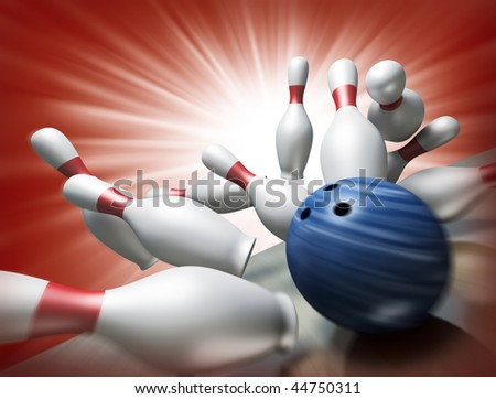 3d render of a bowling - stock photo