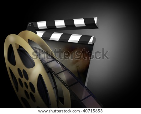 3D render of a clapper board