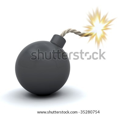 3D render of a comic bomb