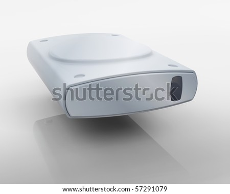 3D render of a computer system icon