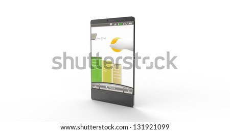 3d render of a concept modern mobile on a white background - stock photo