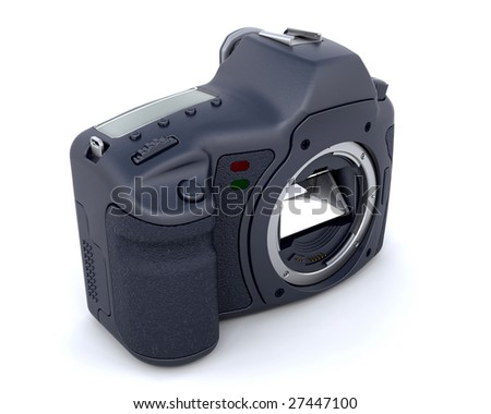 3D Render of a digital SLR Camera Body