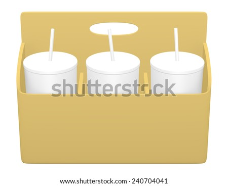 3d Render of a Drink Caddy with Drinks - stock photo