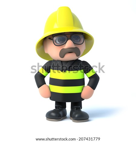 3d render of a firefighter - stock photo