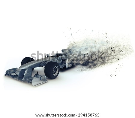 3D render of a generic racing with special effect depicting speed - stock photo