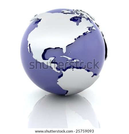 3d render of a globe