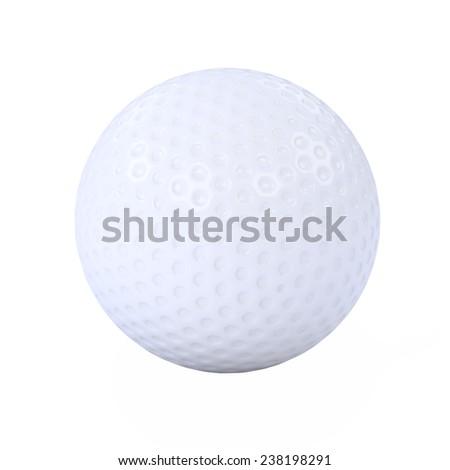 3d render of a golf ball - stock photo