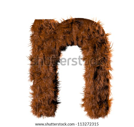 3d render of a hairy n - stock photo