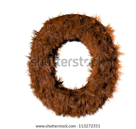 3d render of a hairy o - stock photo