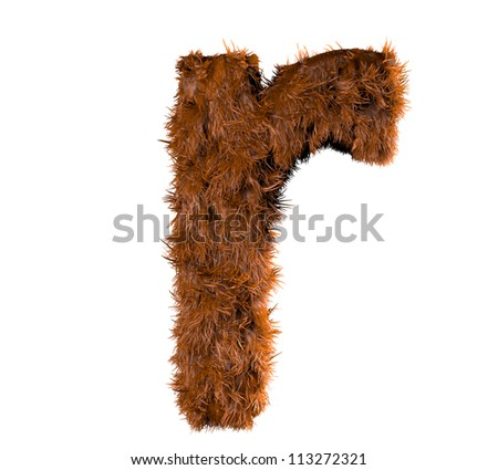 3d render of a hairy r - stock photo