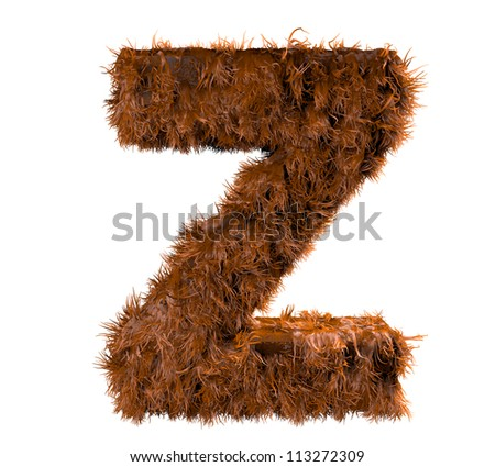 3d render of a hairy z - stock photo