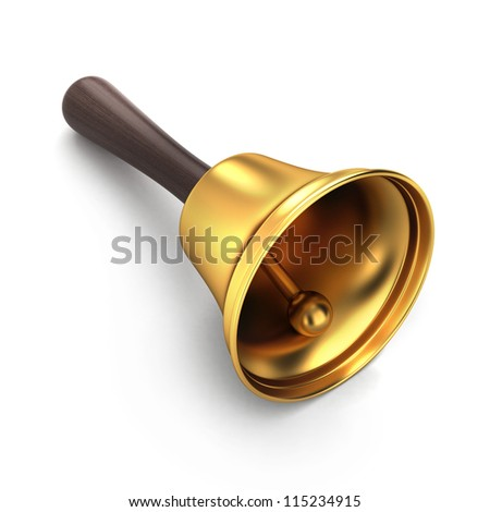 3d render of a handbell - stock photo