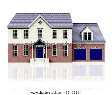 3D render of a house
